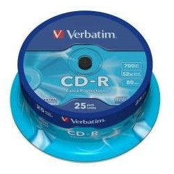 VERBATIM CD-R(25-Pack)Spindl/52x/700MB