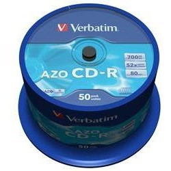 VERBATIM CD-R(50-Pack)Spindl/Crystal/DLP/52x/700MB