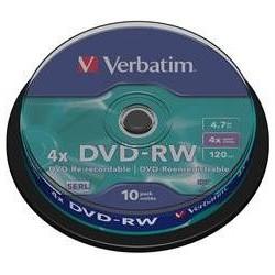 VERBATIM DVD-RW(10-Pack)Spindle4x/DLP/4.7GB