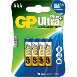 Alkalická baterie GP Ultra Plus 4x AAA