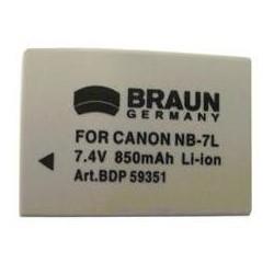 Braun akumulátor CANON NB-7L, 850mAh