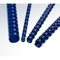 Plastové hřbety 8 mm, modré